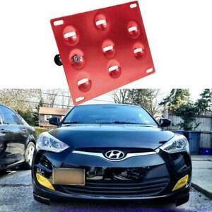 Red License Plate Bumper Bracket Adapter Tow Hook For Hyundai Genesis Coupe 10+