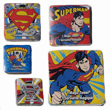 Superman Marvel Comics Expandable Flannel Magic Wash Cloth Face Washer Towel