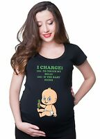 Pregnancy T-shirt I Charge To Touch My Belly Funny Maternity Baby T-shirt