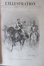 RUSSIE EMPEREUR NICOLAS II BATEAUX YACHT CHATEAU GRAVURE L'ILLUSTRATION de 1901