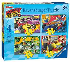 MICKEY AND THE ROADSTER RACERS 4 IN A BOX PUZZLE RAVENSBURGER