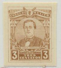Mexico Sc. 502 Ignacio Zaragoza 1915 Mnh Imperforate