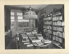 PHOTOGRAPH OF DUTCH READING ROOM WITH MANY BOOKS   MAGAZINES - AMSTERDAM