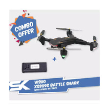 Combo Package: Battle Shark 2 MP Wide Angle Camera RC Quad-copter Drone with Spa
