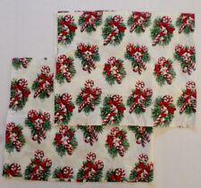 "Custom Set 2 Christmas Valences Candy Canes Red White Green Handmade 17"" x 42"""