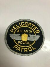 Old Atlanta Georgia Helicopter Police Patch - Cheesecloth