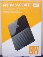 WD 4TB Black My Passport  Portable External Hard Drive - USB 3.0