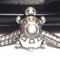 TURTLE/_Slider Bead For Silver European Chain Charm Bracelet/_Tortoise Shell Pet