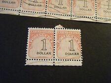 USED Scott# J100 $1 Postage Due stamps including HIGH RIGHTs - N BELVIDERE NJ  J