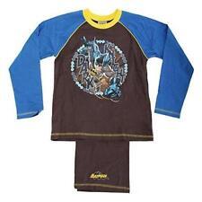 Childrens Boys Batman Dark Knight Long Sleeve  Pyjama Set (5-6 Years) (Grey/Blue