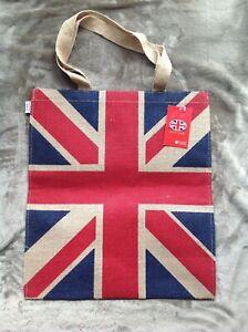 Union Jack Fahne Jute EinkaufstaschenTote Bag von Elgate England