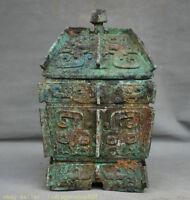 28 antique vieux chinois de vin bronze dynastie de crock pot pot navires.