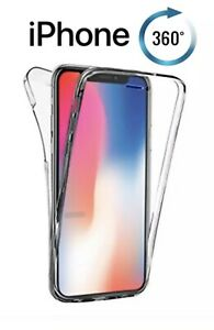 for Apple iPhone XS - X Front & Back ShockProof Gel New Frost Case Cover 360