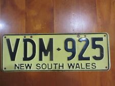 NSW: steel 1998 issue number plate VDM - 925.   New South Wales slogan