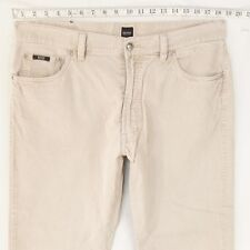 Herren Hugo Boss Arkansas Regular hellgrau creme Schnüre Jeans (W37) W38 L30
