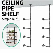 Industrial Rustic Iron Pipe Wall Shelf Ceiling Vintage Hanging Bracket Shelf DIY