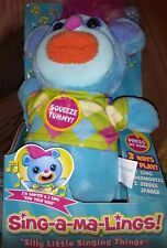 Mattel Sing-A-Ma-Ling Sawyer Row Your Boat Singing Plush Silly Little Things NEW