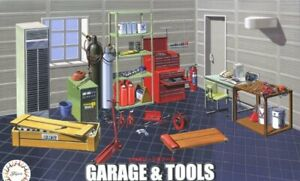 Fujimi 11635 GT-15 1/24 Scale Model Sports Car Accessories Garage and Tool Set