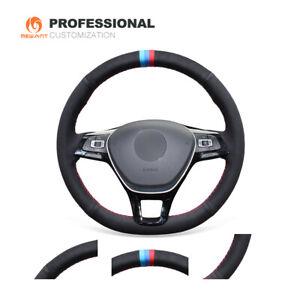 DIY Suede Steering Wheel Cover for VW Golf 7 Mk7 Polo Jetta Passat B8 Tiguan G3