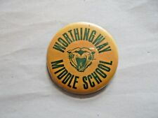 Cool Vintage Worthingway Middle School Mascot Spirit Pinback
