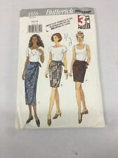 3326 Vintage Butterick Sewing Pattern Wrap Skirt 3 Pieces Size xs-m