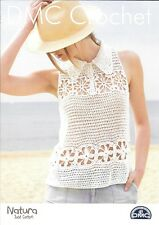 BRAND NEW DMC Crochet Pattern - Ladies Top with Collar