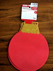 "Creatology Foam Shapes Christmas Ornament 4pc 7"" x 8.5"" New"