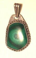 Malachite sterling silver mounted pendant