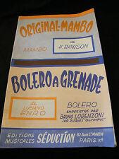 Partition Originale Rawson Bolero a Grenade Lorenzoni Music Sheet