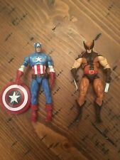"Hasbro Marvel Universe Comic Pack Captain America  Wolverine 3.75"" Figures Loose"