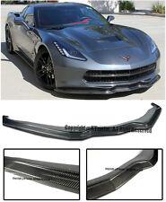 For 14-Up Corvette C7 Stingray Z06 Stage 2 Carbon Fiber Front Chin Lip Spoiler