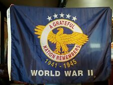 World War Ii Military Flag A Grateful Nation Remembers 3x5 ft Nylon Made in Usa