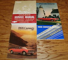 1968 Chevrolet Shop Service Manual Owners Manual Brochures Lot Camaro Chevy II