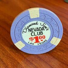New listing Vintage Diamond Jim's Nevada Club $1 Chip #K922