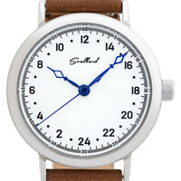 24-hour dial watch Svalbard Vintage Limited Edition with Swiss Ronda movement