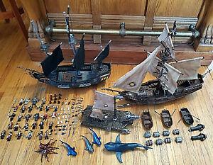Mega Bloks BLACK PEARL, Captain Cutlass' STORMSTALKER, Pyrates Shark Escape&more