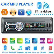 1DIN Single Car In-Dash Stereo USB FM Radio Bluetooth Hand-free MP3 Music Player