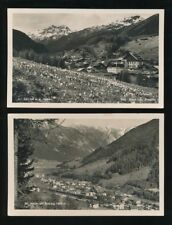 Switzerland ST ANTON 2 general view inc railway station c1920/40s? RP PPCs