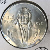 1978 Mexico 100 Peso Silver Coin