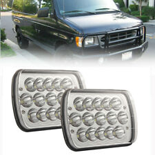 2Pcs 7X6 5X7 LED Headlight Hi/Lo Beam For Ford E150 E250 E350 Sterling LT9500