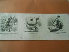 Caricature 1868 - Le Zouave Jacob un porte plume de son trombone