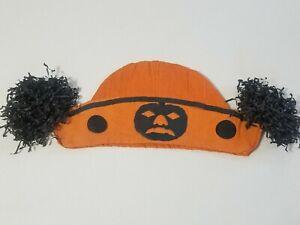Halloween Crepe Paper Hat, Germany, JOL and tassles, Nice!!!
