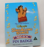 Vintage Disney Pin  Badge Walt Disney Sing Along Song Friends Like Me carded