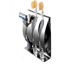 Stainless Steel Bathroom Toothbrush Razor Holder Wall Mount Rack Stand