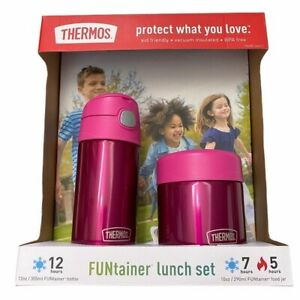 Thermos FUNtainer Lunch Set 12 oz Bottle & 10 oz Food Jar Pink