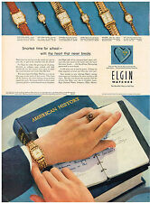 Vintage 1952 Magazine Ad For Elgin Watches The Beautiful Way To Tell Time