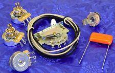 Fender Strat 3-Way CRL 1452 Switch + 3 CTS 450G, .047uF Orange Drop Wiring Kit