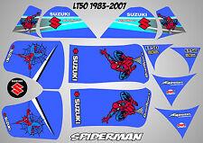 suzuki lt50 quad graphics stickers decals lt 50 laminated spiderman blue lt 50