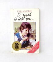 So Much to Tell You by John Marsden teen novel used condition paperback 1992