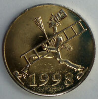 GERMANY, ICH BRINGE GLUCK 1998 Good Luck Token 23mm 5.2g Brass KK1.6